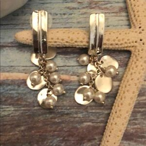 Jewelry - Silver and Faux Pearl Earrings